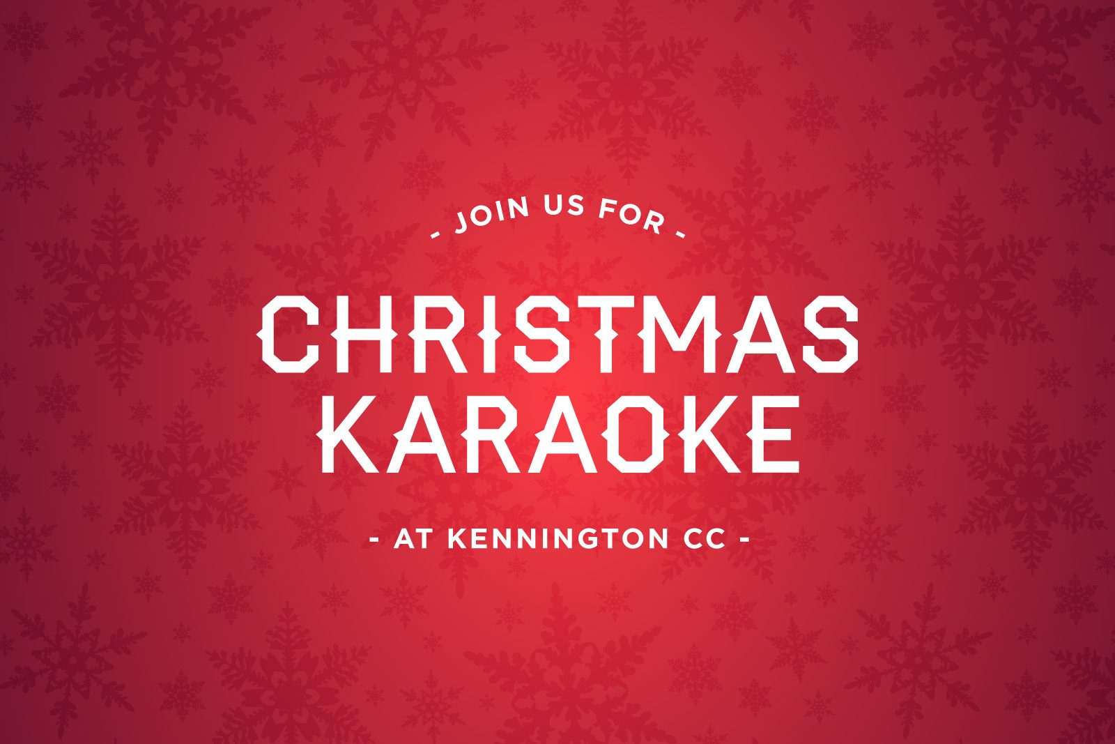 Christmas Karaoke at Kennington CC — Kennington Cricket Club